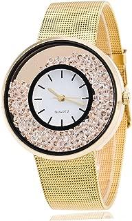 WUAI Watches for Couples, Crystal Quartz Watches Lady Wrist Watch Wristwatch