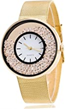 WUAI Watches for Couples, Crystal Quartz Watches Lady Wrist Watch Wristwatch