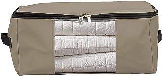 COVERS & ALL Lot de 50 sacs de rangement avec fenêtre transparente et poignée pour vêtements, couvertures, chambres et plu...