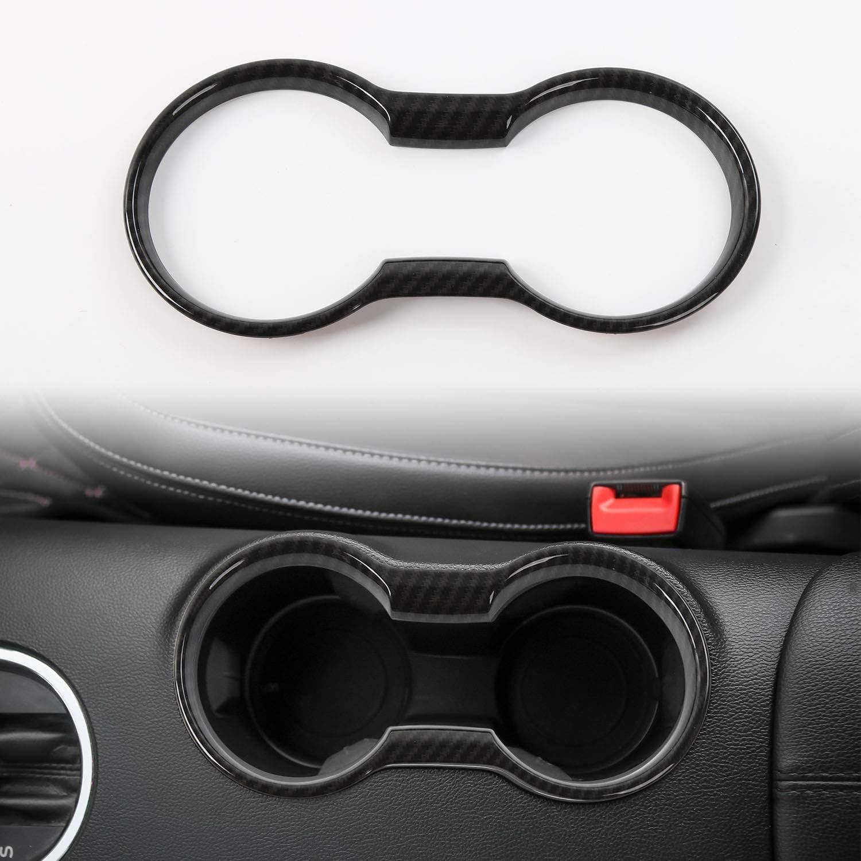 CheroCar Cup Holder Mail order Over item handling ☆ Cover Frame for Mustang 2015-2020 Ford Trim