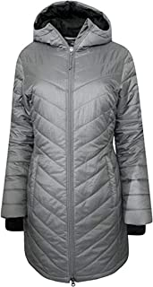 Columbia Women's Morning Light II Omni Heat Long Jacket Coat Puffer Silver