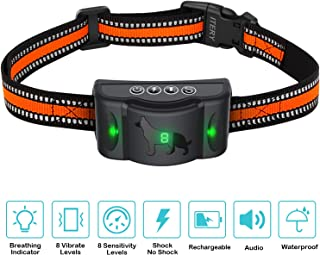 ITERY Dog Bark Collar Stable Chip No Bark Shock Collar-Rechargeable No Barking Control Dog Shock Collar for Small Medium Large