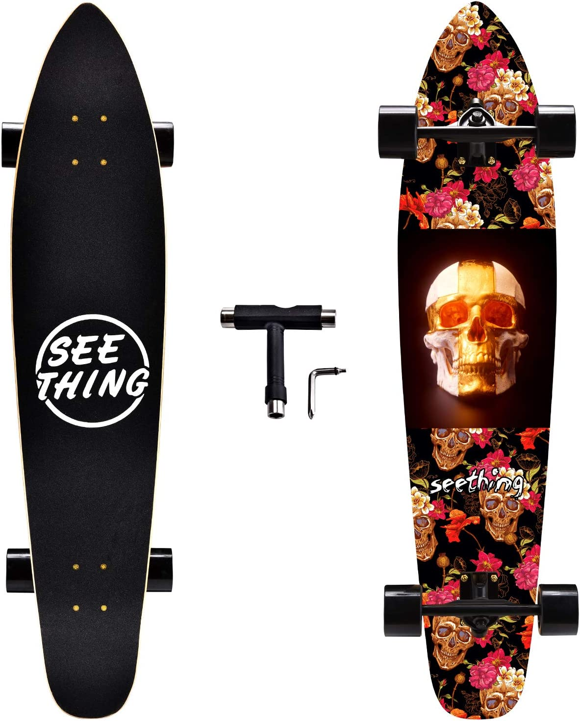 seething 42 Purchase Inch Longboard Skateboard Complete T Pintail Cruiser Outlet SALE