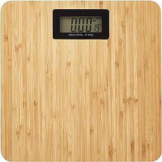 Báscula digital para personas (máx. 180 kg, 28 x 28 x 3 cm, bambú)