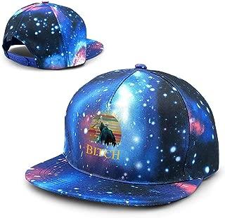E3212DF Unisex Voldemort Avada Kedavra Bitch Galaxy Cotton Hip Hop Snapback Flat Brim Hat Adult Dad Baseball Caps Blue