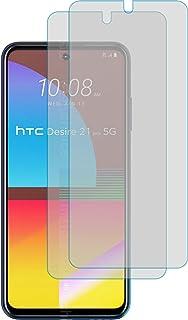 4ProTec I 2 x skyddsfilm klar passform för HTC Desire 21 Pro 5G – skärmskydd skyddande film