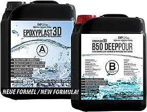 15,0 KG EpoxyPlast 3D B50 DEEP POUR Epoxyhars, Ultra Diamond Clear, Maximum UV-Weerstandsvermogen, Riviertafel, Sieraden, ...