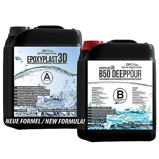 22 opinioni per 9 KG Resina epossidica Ultra transparente EpoxyPlast 3D B50 DEEP POUR