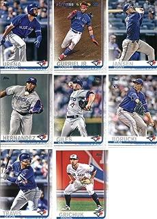 2019 Topps Series 1 Baseball Toronto Blue Jays Team Set of 12 Cards: Marcus Stroman(#37), Richard Urena(#39), Danny Jansen(#67), Lourdes Gurriel Jr.(#82), Sean Reid-Foley(#134), Teoscar Hernandez(#152), Ken Giles(#184), Rogers Centre(#245), Ryan Borucki(#246), Devon Travis(#298), Randal Grichuk(#309), Russell Martin(#348)