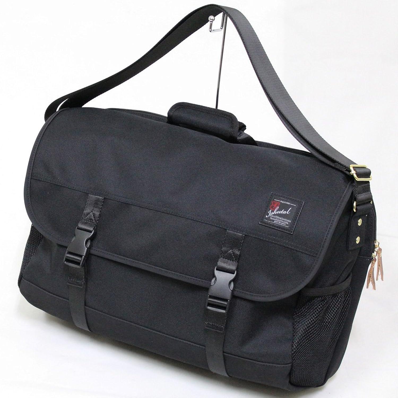 十川鞄 B.C.+ISHUTAL ビーシーイシュタル フィール フラップ ショルダーバッグ 2ルーム ブラック IFL-8503 BK