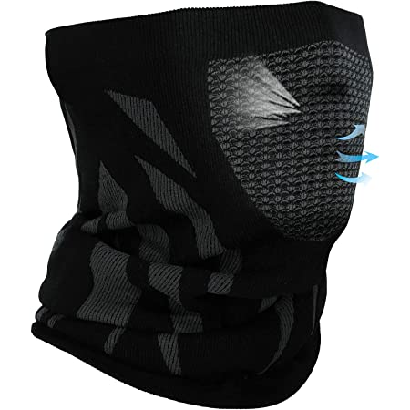 ASDAH EXIO Winter Neck Warmer Gaiter Balaclava 1Pack or 2Pack Windproof Face Cover for Ski Snowboard