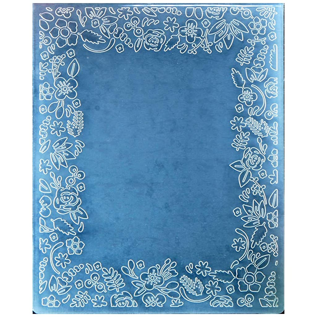 Kwan Crafts Flowers Frame Plastic Embossing Folders for Card Making Scrapbooking and Other Paper Crafts,12x15.2cm