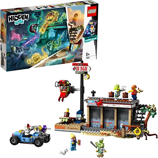LEGO 70422 Hidden Side Shrimp Shack Attack Set, AR Games App, Interactive Augmented Reality Ghost Hunt for iPhone/Android