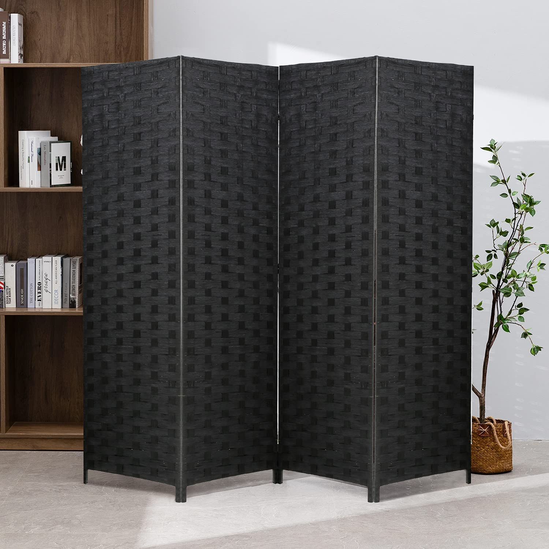 Room Divider Wood Screen SALENEW Miami Mall very popular 4 Panel Folding P Portable