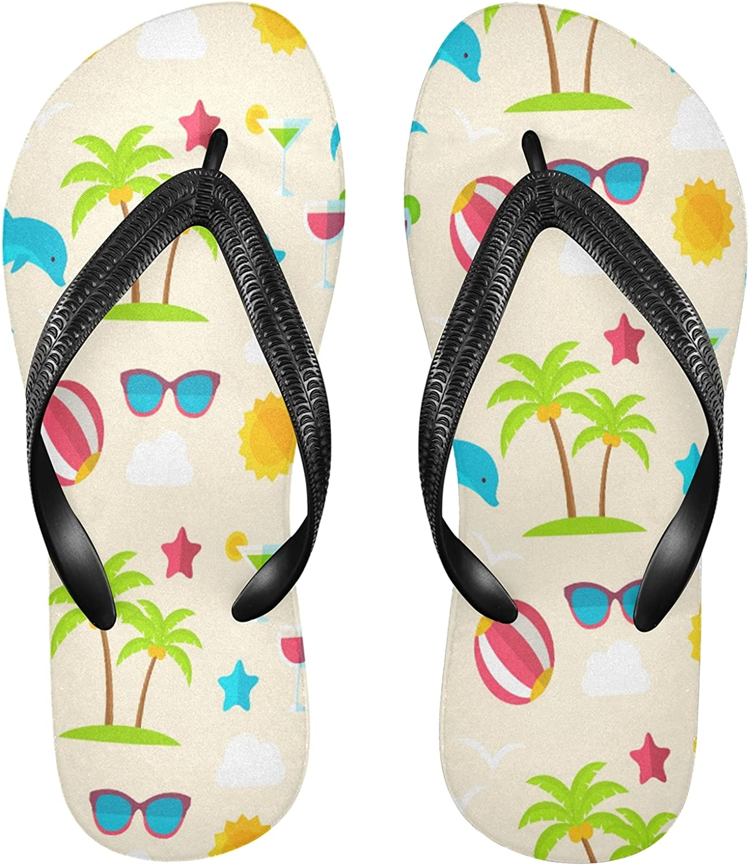 Nander Holiday Elements Women's Sandal Flip Flops Soft Comfortable Beach Slippers Unisex Adult Durable Flip Flops Shower Shoes