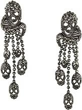 black crystal skull earrings