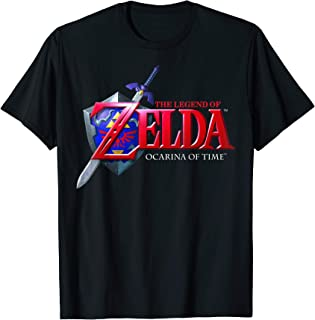 Nintendo Zelda Ocarina of Time Classic Logo Graphic T-Shirt
