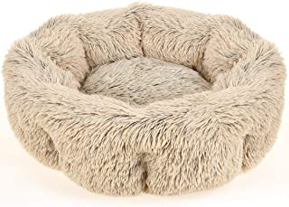 URPOWER Dog Bed, Upgraded Faux Fur Donut Cuddler Round Cushion Pet Bed for Dogs & Cats, Self-Warming and Cozy Pet Beds for Sleep with Removable and Supportable Bottom