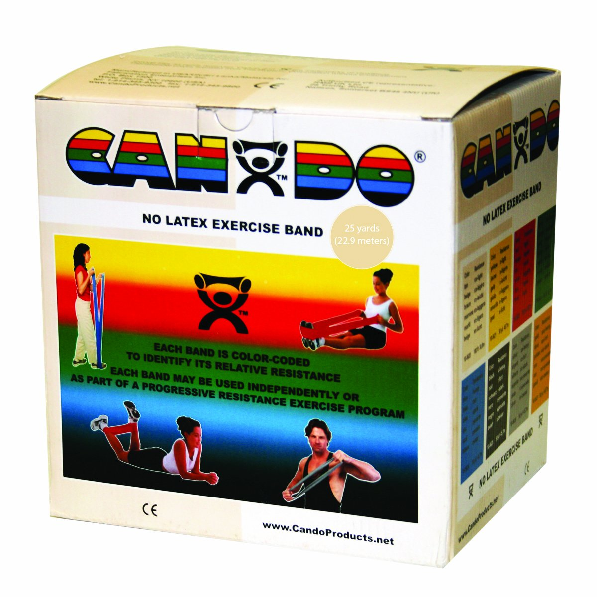 OFFicial mail order Houston Mall CanDo 10-5630 Latex-Free Exercise Band 25 Dispenser Tan yd.