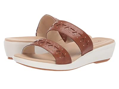 Hush Puppies Lyricale Two-Band (Tan Leather) Women