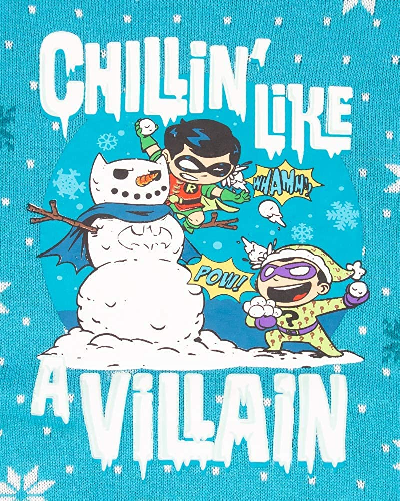 Official Robin /& Riddler /'Chillin Like A Villain/' Kids Christmas Jumper for Boys /& Girls Ugly Novelty Gifts Xmas Jumper Officially Licensed DC Comics Unisex Kids Knitted Sweater Design