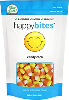 Happy Bites Candy Corn - Gluten Free, Fat Free, Dairy Free - Resealable Pouch (1 Pound)