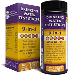 BNS Drinking Water Test Strips. Accurate Tester Strip for pH, Chlorine, Nitrite, Nitrate, Lead, Total Hardness, and More. ...