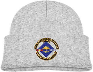 ADGoods Kids Children 40th Infantry Division Korean War Veteran Beanie Hat Knitted Beanie Knit Beanie For Boys Girls Gorra...