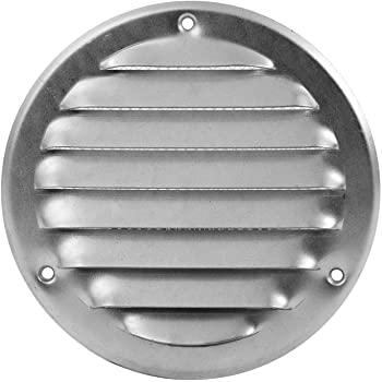 18529-030 L/üftungsgitter Wandgitter Abschluss Metallgitter Abluft Zufluft Insektenschutz verschlie/ßbar /Ø 100 mm wei/ß MKK