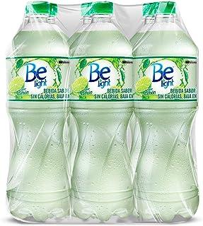 Be Light, Agua Embotellada, Sabor Limón, 1 Litro. Paquete De 6