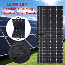 MOHOO Solar Panel, 100W Bendable Foldable Thin Lightweight Solar Panel Battery Charger with MC4 Connector Charging for RV, Boat, Cabin,Tent Car(Compatibility with 18V and Below Devices) (Updated)