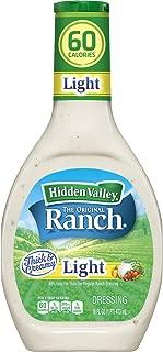 Hidden Valley Original Ranch Light Salad Dressing & Topping, Gluten Free - 16 Ounce Bottle