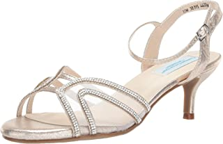 Touch Ups Women's Layla Heeled Sandal, champagne, 7 W US