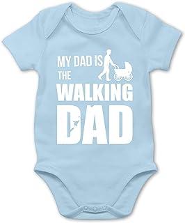 Shirtracer Strampler Motive - My Dad is The Walking Dad weiß - Baby Body Kurzarm für Jungen und Mädchen