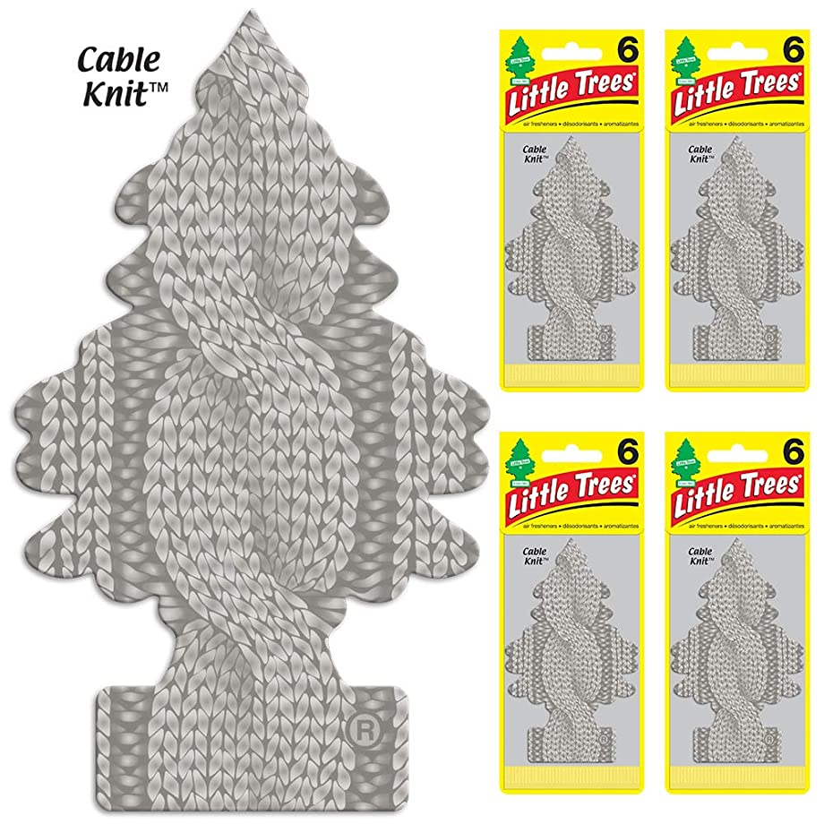 Little Trees U6P-67193-AMA Cable Knit Air Freshener, 24 Pack