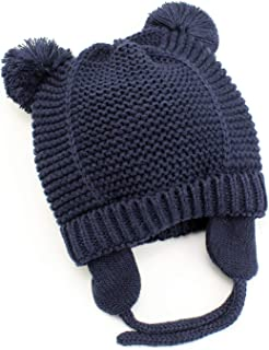 Zando Toddler Baby Winter Hat Soft Warm Earflap Beanies Infant Knit Cute Caps for Boys Girls