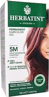 Herbatint, Permanent Haircolor Gel, 5M, Light Mahogany Chestnut, 4.56 fl oz (135 ml) - 2pc