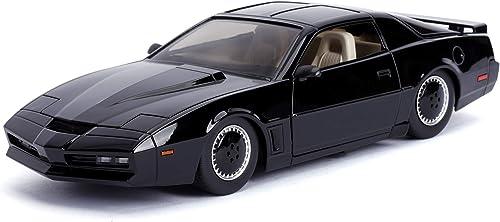 Jada 1:24 Hollywood Rides Knight Rider KITT with Light Pontiac Firebird 30086, Black