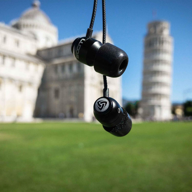 LUDOS Clamor Auriculares con Micrófono y Cable, Espuma de Memoria ...