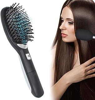 Ionic Cepillo de pelo para desenredar, antiestático, curvado, ventilado, cepillo para desenredar el pelo, peinetas para mujeres con cepillo de ventilación de pelo largo grueso y fino rizado y enredado