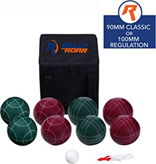 Bocce Ball Set Classic 90MM & Premium 100MM Options - Bocce Game for Adults, Families, and Kids Complete Bocce Yard and Lawn Games with Carrying and Storage Case by D1S/Rally & Roar - Fun Outdoor