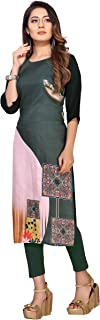 Ty Crepe Stitched Kurti for Women's