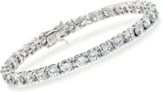 15.00-17.00 ct. t.w. CZ Tennis Bracelet in Sterling Silver