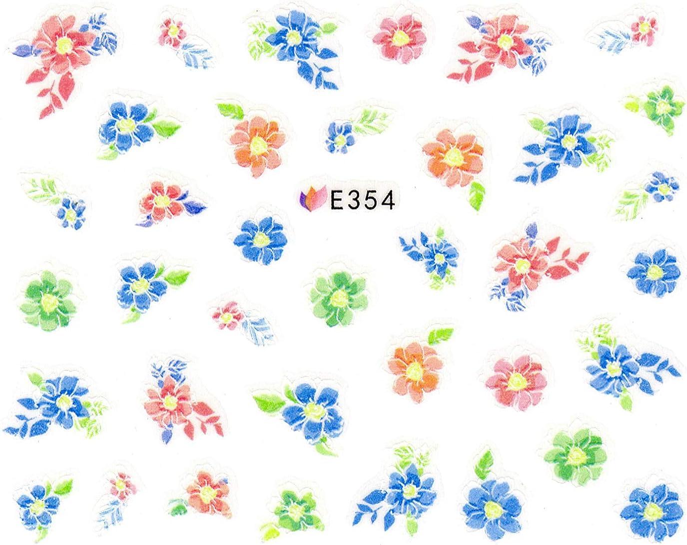 どう?チャネル種をまくネイルシール 水彩 和風 花 フラワー (05-T54)