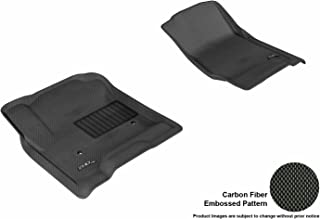 3D MAXpider Front Row Custom Fit All-Weather Floor Mat for Select Chevrolet Equinox/GMC Terrain Models - Kagu Rubber (Black)