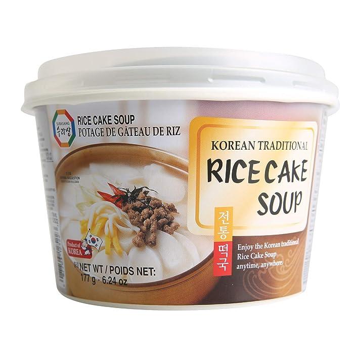 Surasang Tteokguk, Korean Rice Cake Soup, 6.3 Ounce, Pack of 6