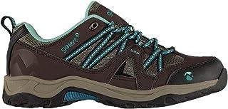 Official Brand Gelert Ottawa Low Womens Walking Shoes Trainers Brown/Teal Ladies Footwear
