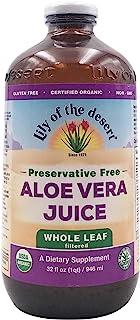 Lily Of The Desert, Aloe Vera Juice Whole Leaf Preservative Free Organic, 32 Fl Oz
