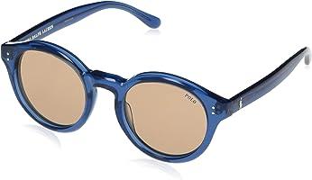 نظارة شمس بانتو بعدسات بني وشنبر اسيتات للنساء من بولو - ازرق