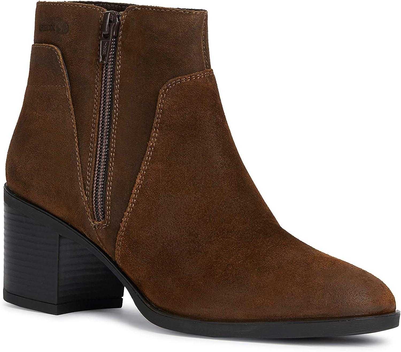 Geox Geox Damen Stiefel New Asheel Ankle Braun  zeitloser Klassiker